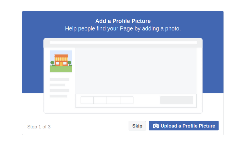 Upload Avatar to FB Page